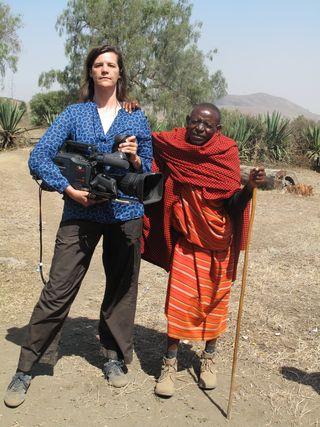 KJ and masai man