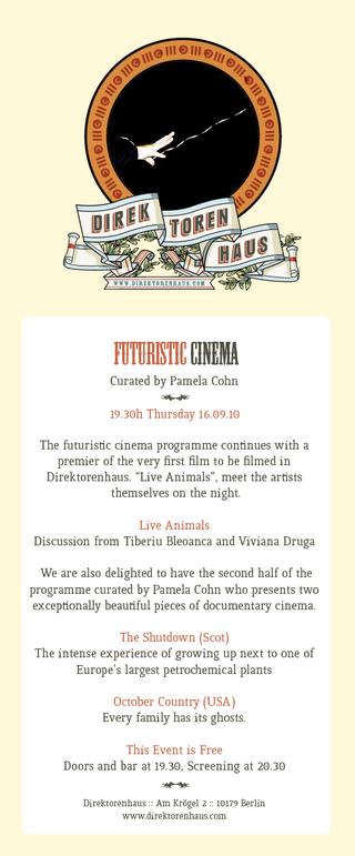 Futuristic cinema invitation
